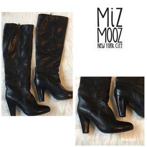 Miz Mooz Boots Soft Black Leather